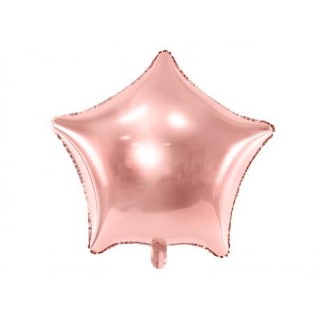 Balon foliowy Gwiazdka 70cm różowe złoto