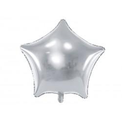 Balon foliowy Gwiazdka 70cm srebrny