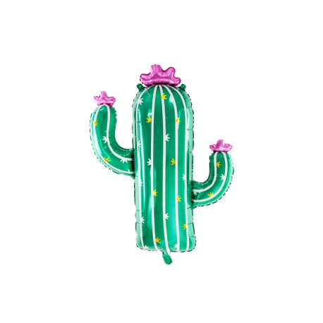 Balon foliowy Kaktus 60x82cm mix