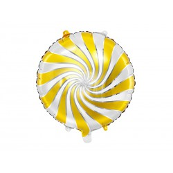 Balon foliowy Cukierek 35cm złoty