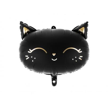 Balon foliowy Kotek 48x36cm czarny