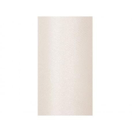 Tiul glittery kremowy 0,15 x 9m