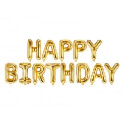 Balon foliowy Happy Birthday 340x35cm  złoty