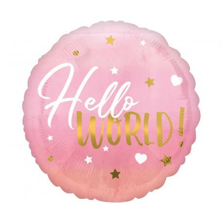Balon foliowy 18 cali  Baby girl różowy