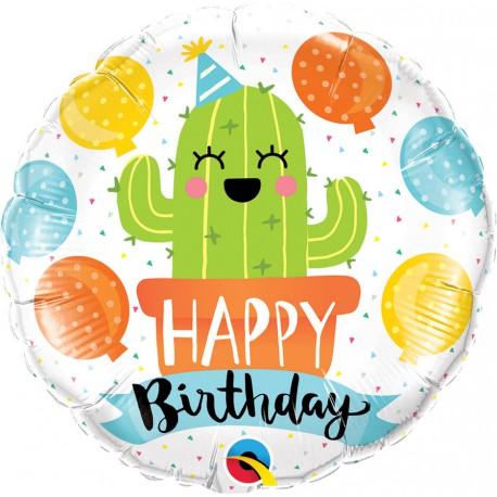 """Balon 18"""" Urodzinowy kaktus"""