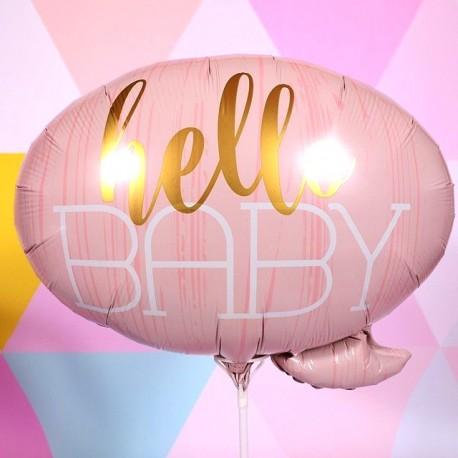 BALON hello baby pink 60x55