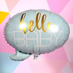 BALON hello baby blue 60x55