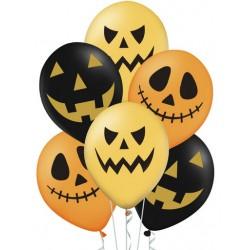 Balony Halloween 30cm 6szt