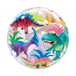 "Balon foliowy 22"" BUBBLE  Dinozaury"