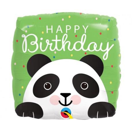 Balon foliowy Panda Happy Birthday 46cm