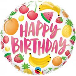 Balon foliowy 18 cali Urodzinowe owoce