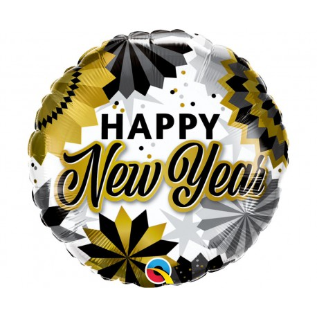 Balon foliowy 18 cali Happy new year