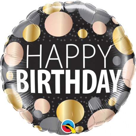 Balon foliowy 18 cali Happy Birthday