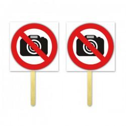 Tabliczki do zdjęć fotobudka zakaz fotografowania TL24