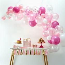 Zestaw łuk balonowy różowy