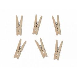 Klamerki drewniane, naturalne drewno 20szt