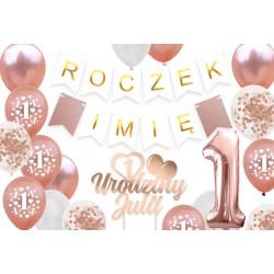 Zestaw balonów ROCZEK Cyfra 1 Urodziny
