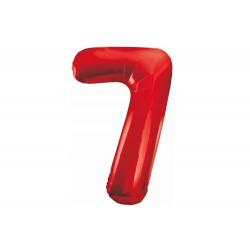 Balon foliowy cyfra 7, czerwony, 102 cm
