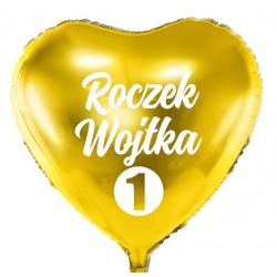 Balon personalizowany ROCZEK + Imię , złoty