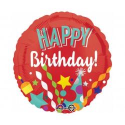 Balon foliowy Urodzinowe Party, okrągły