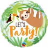 Balon foliowy let's party, leniwiec 46 cm