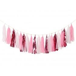 Girlanda FRĘDZELKI różowa - 250 cm