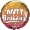 """Balon foliowy 18"""" """"Happy Birthday"""" miedziane złoto"""