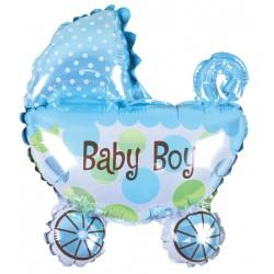 Balon foliowy Wózek Baby Boy 80x67cm
