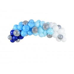 Girlanda balonowa - niebieska, 200cm