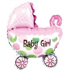 """Balon foliowy 14"""" wózek Baby Girl"""