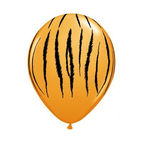 Balon 11cali Tygrys - paski pomarańczowy 1szt