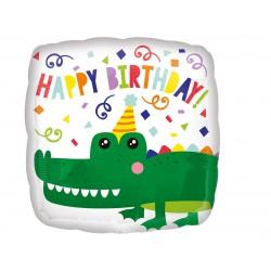 Balon foliowy 18 cali Urodzinowy krokodyl