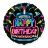 Balon foliowy 18 cali  Happy Birthday  NEON