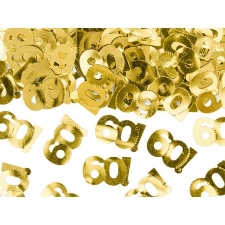 Konfetti metalizowane, liczba 60, 15g