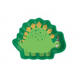Talerzyki Dino Mite,  kształt dinozaura 8szt 22x17 cm