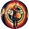 Balon foliowy Kapitan Marvel -38 x 40 cm, 1 szt.