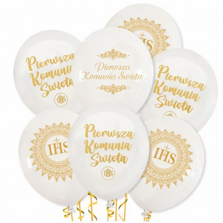 Balony Komunijne 7szt