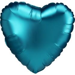 Balon foliowy serce matowe, błękitne, 43 cm
