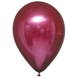 Balon chromowany 30cm, ciemny róż