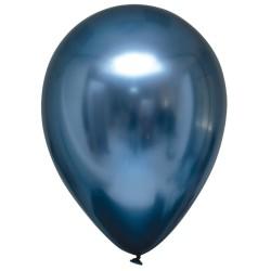 Balon chromowany 30cm, niebieski