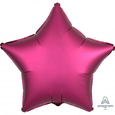 Balon foliowy Gwiazdka 48cm bordowa