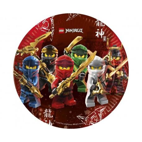 Talerze papierowe LEGO Ninjago, 23 cm - 8 szt.
