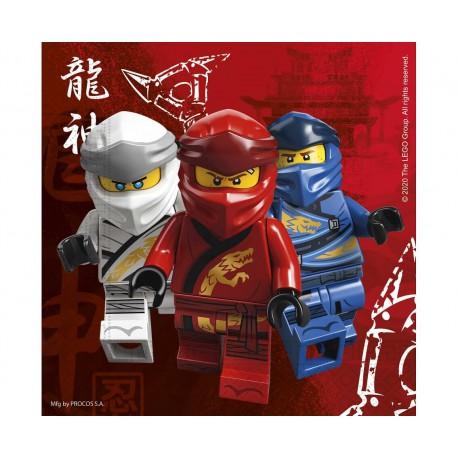 Serwetki papierowe LEGO NINJAGO, 33x33 cm, 20 szt.