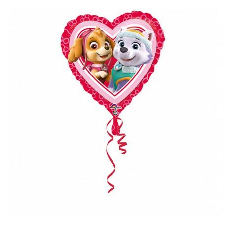 Balon foliowy 18 cali, PSI PATROL Love - Girl