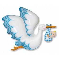 Balon foliowy 24 cale FX - Bocian Baby Boy