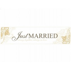 Tablica rejestracyjna JUST MARRIED always together...