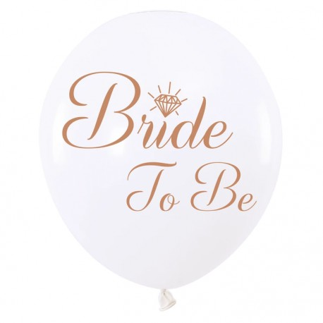 Balon 12'' Bride to be białe 1szt