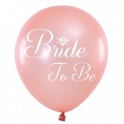 Balon 12'' Bride to be rose gold 1szt