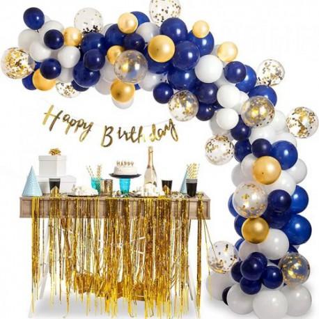 ZESTAW GIRLANDA BALONOWA gold/blue