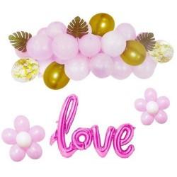 ZESTAW balonów LOVE PINK